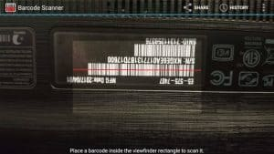 Barcode Scanner from within the app